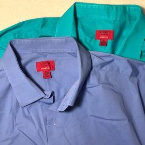 ALFANI Slim Fit Stretch Men's Dress Shirts